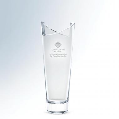 Crossing Crystal Vase