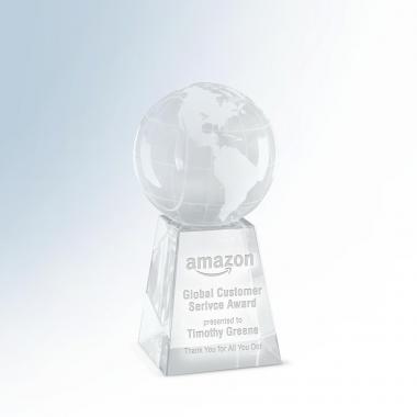 Crystal Globe on Base