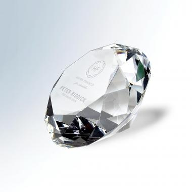 Optic Faceted Diamond