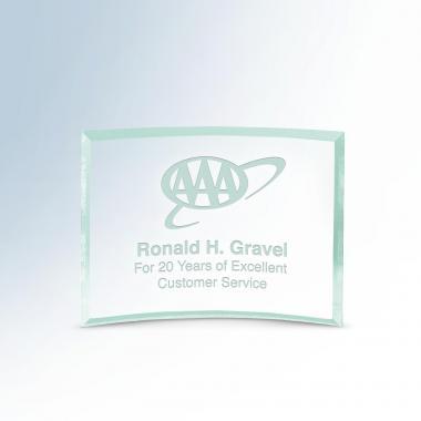 Bent Emerald Plaques