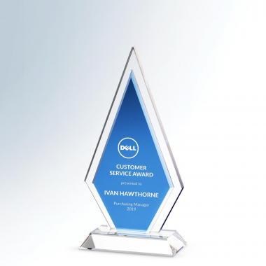 Blue Pinnacle Crystal Award