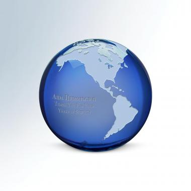 Global Excellence Crystal Paperweight