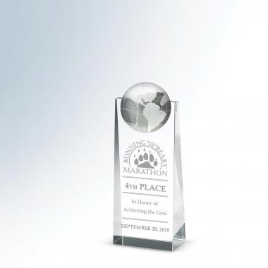 Towering Globe Crystal Award