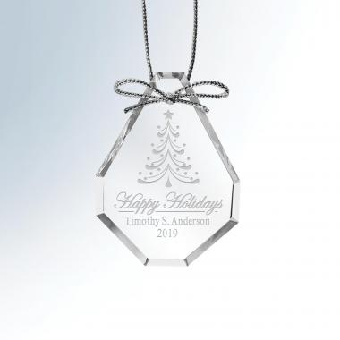 Happy Holidays 2019 Crystal Ornament